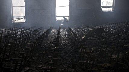 Дом профсоюзов выгорел дотла