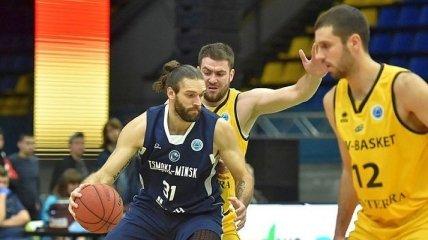 Цмоки-Минск шокировал Киев-Баскет в матче Кубка Европы ФИБА