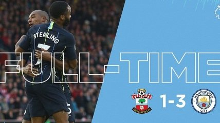 Саутгемптон - Манчестер Сити: видео голов и обзор матча