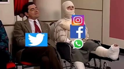 Падение соцсетей вызвало волну шуток в сети