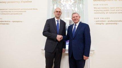Глава Нацбанка встретился с миссией МВФ в Киеве