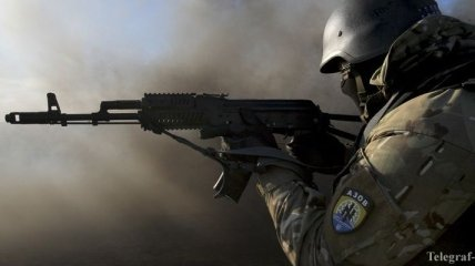 """Бойцы """"Азова"""" отбили несколько атак террористов около Тельманово"""