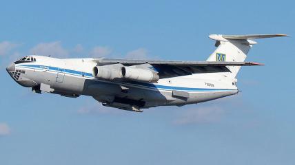 Военно-транспортный Ил-76 выполняет важное государственное задание