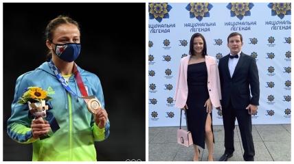 Ирина Коляденко со своим тренером Владимиром Яременко