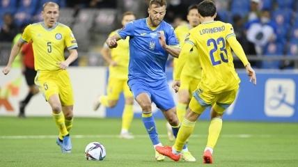 Андрей Ярмоленко в матче с Казахстаном