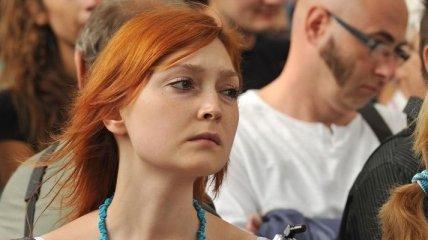 Возле Верховной Рады украинской журналистике отрезали язык