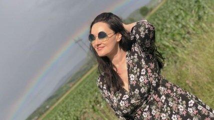 Телеведущая Соломия Витвицкая показала фото с путешествия в Карпаты: ходила за грибочками