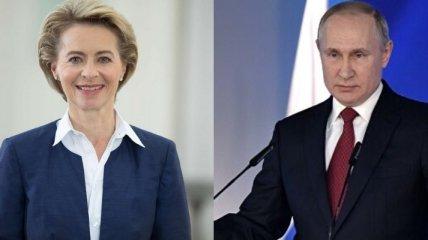 Транзит газа: Путин и Ляйен обсудили проблемные вопросы