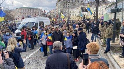 День добровольца: в Киеве проходит Марш патриотов (Видео)