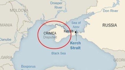 """Авторитетное издание назвало Крым """"спорной территорией"""""""