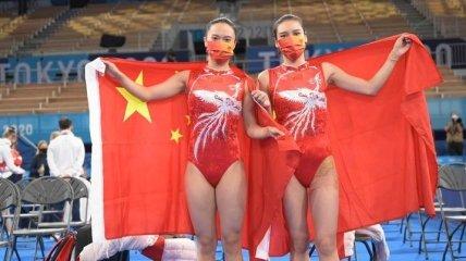 Китаянки доминировали в прыжках на батуте на Олимпиаде