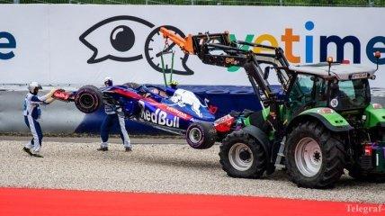 Формула-1. Аварии стоили Toro Rosso больше € 2 млн в 2018 году