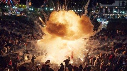 Огонь и взрывы фестиваля фейерверков в Мексике (Фотогалерея)