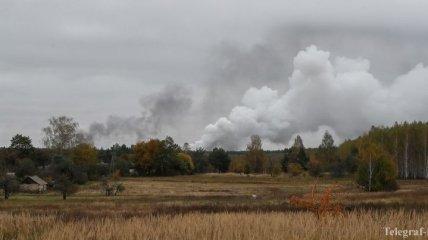 Взрывы на складе в Ичне