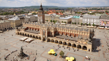 Краков - город на юге Польши с населением около 1 млн жителей