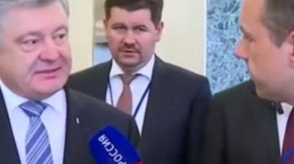 """""""Вы – убийцы украинцев!"""": Порошенко резко ответил российскому журналисту (Видео)"""