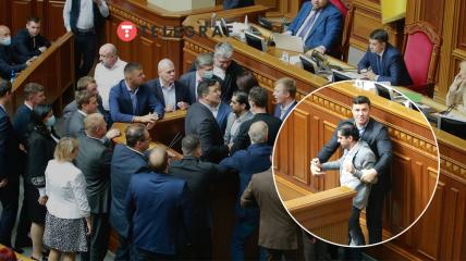 В Раде - новая потасовка нардепов во главе с Леросом и Тищенко