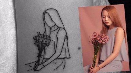 Лаконизм и ничего больше: тату от мастера минимализма из Южной Кореи (Фото)
