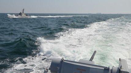 Пограничные корабли РФ осуществили агрессивные действия против кораблей Украины