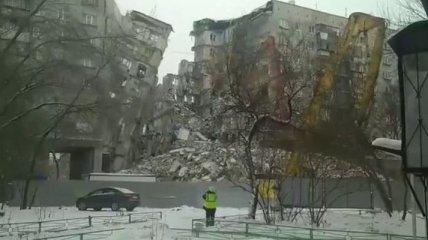 В Магнитогорске снесли стену в поврежденном взрывом доме