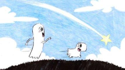 Забавные комиксы о жизни маленького привидения