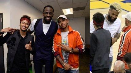 """Неймар посетил раздевалку """"Голден Стейт"""" после второго матча финала НБА (Видео)"""