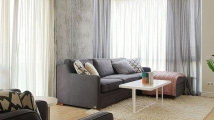 Зимнее настроение: оттенки серого в интерьере квартиры (Фото)