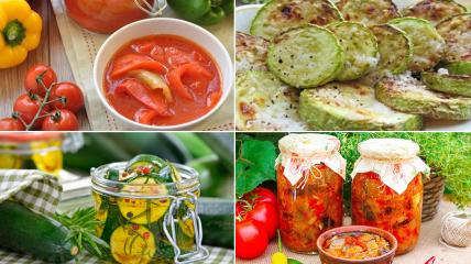Рецепты из помидор и кабачков на зиму