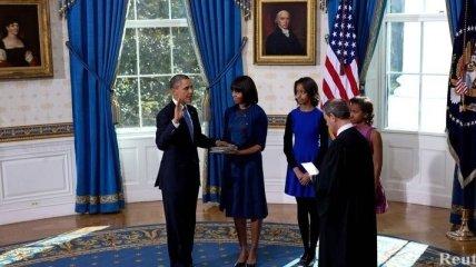 Обама принял присягу в Белом доме